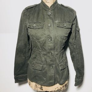 Forever 21 Olive Utility Jacket Size Small